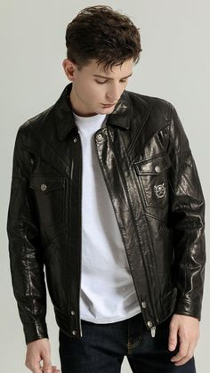 Boys Leather Jacket, Leather Men, Black Leather, Leather Jackets, Riders Jacket, Moto Jacket, Motorcycle Jacket, Open Face Helmets, Latest Outfits