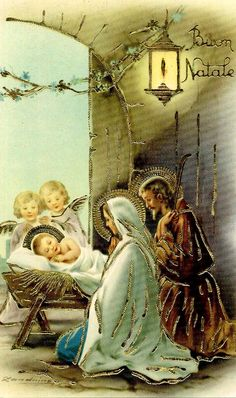 vintage manger scene