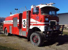 Queenstown, New Zealand - Mack 4x4 airport Heavy Fire Dept. Truck tender