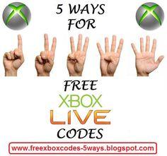 http://freexboxcodes-5ways.blogspot.com  5 ways to get free xbox live codes  #free #xbox #codes #xboxone #xbox360