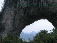 The Moon Hill Yangshuo, Moon Hill Climbing Yangshuo, Guilin