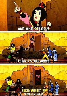 Hahaha only azula would stoop so low