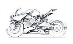 Cool Car Drawings, Art Drawings Sketches, Cb 1000, Bike Drawing, Bike Sketch, Motorbike Design, Car Design Sketch, Automotive Art, Transportation Design