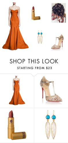 """""""Untitled #8137"""" by mie-miemie ❤ liked on Polyvore featuring Zac Posen, Christian Louboutin, Lipstick Queen and Lana"""