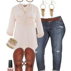 5ae795d16 Plus Size Boyfriend Jeans Outfit - Plus Size Fashion for Women - Alexa Webb  - alexawebb