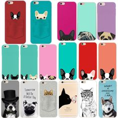 $0.99 - Cute #pug Dog Animal Cat Ultra Tpu Phone Cover Case For Iphone 6 6S 7 8 Plus 5 #ebay #Electronics