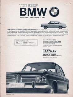1964 BMW ad. scanned from February 1964 Car and Driver.