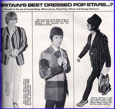 Magic Mac: Fashion:Brian Jones, Ronnie Lane & George Harrison