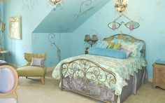 Comfortable Modern Bedroom Design Tween Girl Room Ideas Pictures Blue Wall Paint In Attic Chair Desk Lamp For Girls With Bedroom Ideas For Teen Girls Plus Tween Girl Bedroom, Beautiful Tween Girl Bedroom Ideas With The Theme Colors Are Bright And Cheerful: bedroom, Interior