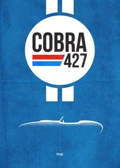 Cobra 427 poster by Dean Walton.