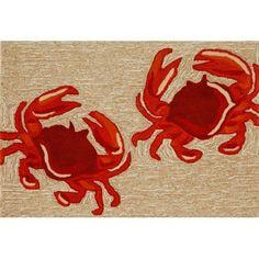 "Crabs Front Porch Rug 2'3"" x 6'"