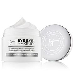 IT Cosmetics - Bye Bye Makeup 3 in 1 Makeup Melting Balm. Great for sensitive skin, removes makeup and hydrates. Smooth into dry skin and rinse. Beauty Tips For Skin, Skin Care Tips, Natural Beauty, Beauty Tricks, Daily Beauty, Makeup Tricks, Skin Tips, Beauty Bar, Beauty Stuff