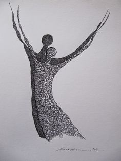 Åse Margrethe Hansen/Dansen. Ink drawing, 2010