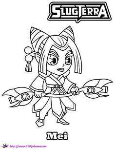 slugterra printables activities and coloring pages