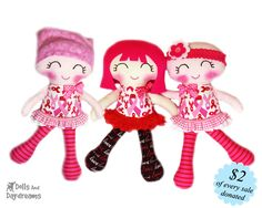 Breast Cancer Doll Sewing Pattern - Cuties for a Cure