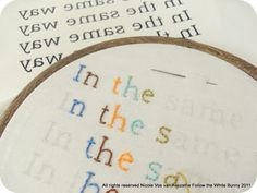 Another way to transfer an embroidery pattern...print and iron on
