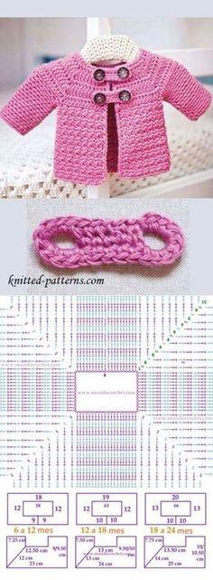 new ideas crochet baby jacket tutorial free pattern