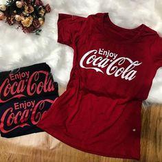 Disponível na Loja🌸 T-shirt Coca Cola✨Cor. Vermelha e Preta✨ 40 c51cbf0627f