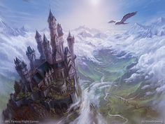 Calm over Westeros by DinoDrawing Eyrie House Arryn Andal Vale of Arryn castle river forest mountains landscape location environment architecture   Create your own roleplaying game material w/ RPG Bard: www.rpgbard.com   Writing inspiration for Dungeons and Dragons DND D&D Pathfinder PFRPG Warhammer 40k Star Wars Shadowrun Call of Cthulhu Lord of the Rings LoTR + d20 fantasy science fiction scifi horror design   Not Trusty Sword art: click artwork for source