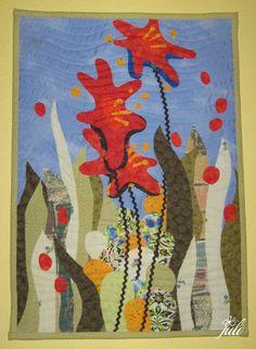 vodný kvet, patchwork