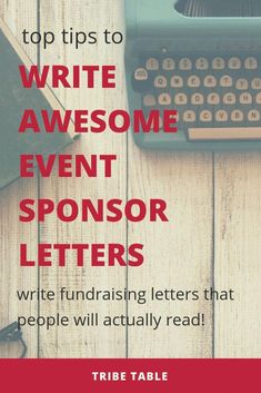 How to Write Sponsor Letters that Connect Here are some quick and easy steps that you can do to make your fundraising event sponsorship letters stand out and connect with potential donors. Fundraising Letter, Fundraising Events, Fundraising Ideas, Nonprofit Fundraising, Sponsorship Letter, Sponsorship Levels, Connect, Design Social, Grant Writing