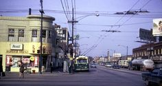 Northwest side of Chicago ... 6 corners Cicero n Milwaukee Trolley Car Buses back in the days...