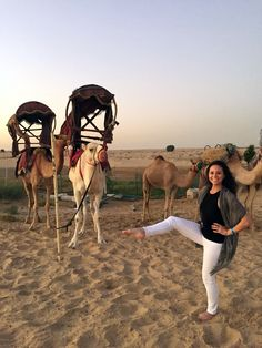 Megan from The Bar Method Boston - Back Bay impresses an audience of camels with her beautiful leg lifts in Dubai! #WhereDoYouBar?
