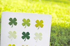 make a four leaf clover card for st. patrick's day