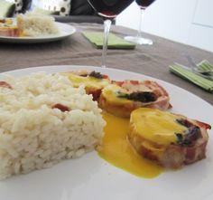 Un domingo en mi cocina: Rollo de pavo relleno con salsa de naranja y canela. Los miércoles cocina Amara