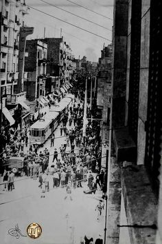 Tram in Aleppo Syria Before And After, Syrian Jews, Aleppo City, Damascus, Old Photos, Times Square, Around The Worlds, Photo And Video, Black And White