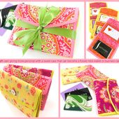 Fold-Over Gift Card Case with Double Vinyl Pockets