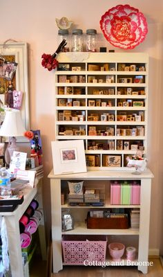 Cottage and Broome: Craft Cabinet Redo