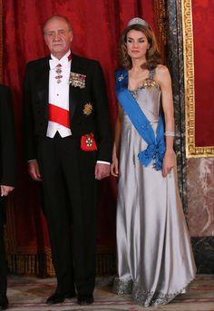 Princess Letizia - Spanish Royal Dinner For Nicolas Sarkozy & Wife