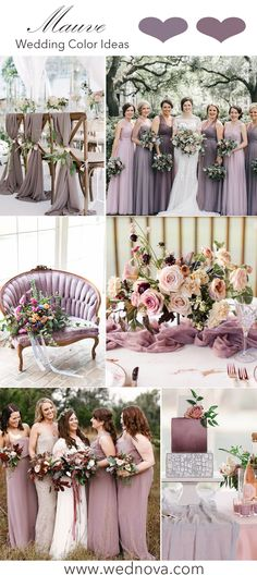 It's not Pantone's color of the year, but Mauve is definitely the lovely and. It's not Pantone's color of the year, but Mauve is definitely the lovely and… It's not Pantone's color of the Mauve Wedding, Dream Wedding, Wedding Theme Purple, Plum Wedding Colors, Popular Wedding Colors, Spring Wedding, Boho Wedding, Wedding Themes, Wedding Decorations