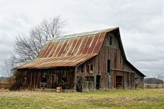 old  barns | Weathered Old Barn | Country Roads Photo