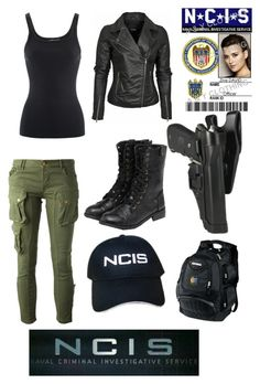 NCIS:Ziva David by meganmoncellor5 on Polyvore featuring Ralph Lauren, CYCLE, yeswalker, Jethro and OGIO