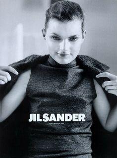 guinevere van seenus | jil sander ad campaign fall 1996 | by craig mcdean