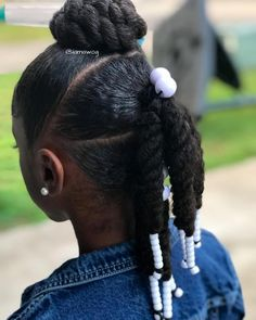 Black Kids Hairstyles with Braids, Beads and Accessories - Black Kids Hairstyles. - My list of women's hairstyles Lil Girl Hairstyles, Black Kids Hairstyles, Natural Hairstyles For Kids, Natural Hair Styles For Black Women, Kids Braided Hairstyles, My Hairstyle, Hairstyle Ideas, Natural Hair Styles Kids, Hairstyles Pictures