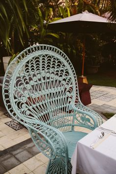 peacock chair at the hu'u bistro #huubistro #outdoorfurniture #peacockchair #tropicalliving #bali