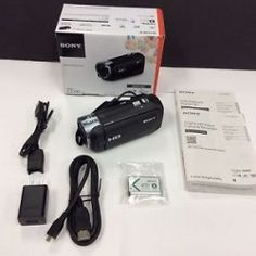 #LosAngeles CA Merchandise / #Sony #Handycam HDR-CX240 #1080p Full HD Video Camera #Camcorder 9.2 MP- Black NEW - Geeb