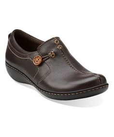 Another great find on #zulily! Brown Ashland Glow Leather Shoe by Clarks #zulilyfinds