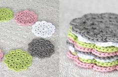 LOVE these coasters! very cute! #crochet