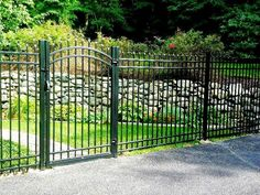 4-Rail Belmont Style Aluminum Fence and Arched Walk Gate