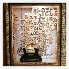 Loving how Zoe used the new Mixed Media 3 die to create this card for Sizzix. Altered Canvas, Altered Art, Tim Holtz Dies, Sizzix Dies, Stationery Craft, Steampunk Diy, Masculine Cards, Card Tags, Paper Cards