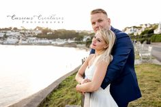 Gorgeous couple just married having a bridal photo shoot in St Mawes on the Roseland Peninsula, Cornwall Roseland Peninsula, Curious Creatures, Newborn Baby Photography, Baby Family, Cornwall, Family Photographer, Family Portraits, Portrait Photographers, Photo Shoot