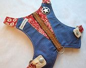 Dog Harness - Cowboy Baby Harness Vest in Berry