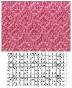 Lace Knitting Stitches, Lace Knitting Patterns, Knitting Charts, Lace Patterns, Baby Knitting, Stitch Patterns, Crochet Yarn, Pulls, Knitting Projects