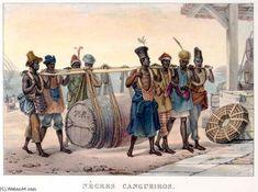 """Carga Negros. Escravos no Brasil"""" por Jean Baptiste Debret (1768 ..."""