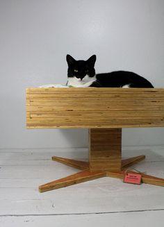 Handmade Modern Plywood Pet Bed