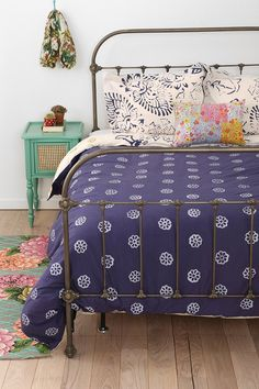 Plum & Bow Callin Iron Bed - didn't think Id like a metal frame bed but maybe if we added lots of other textures.....